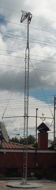 Proxecto preparado para ventos revólver 7,5 metros 2 mastro metros construído por TVC Dixital para pequenas localidades.